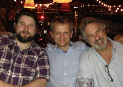 With Boris Scharschmidt, director of SPENT, composer Patrick Kirst & actor Bradford Bancroft