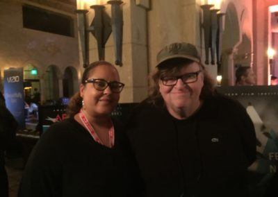 "With Michael Moore at the AFI World Premiere of ""Where to invade Next"""