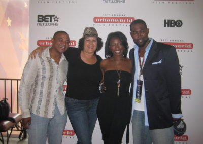 Producer Sean Johnson, Actors Bianca Lavene Jones and Josef Cannon