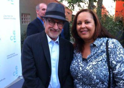 With Steven Spielberg
